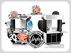 Desain Logo   Logo Kuliner    Desain Gerobak   Jasa Desain dan Produksi Gerobak   Branding: Desain Gerobak Susu Moo