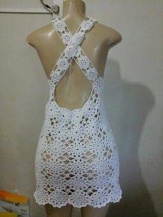 H - Salvabrani Crochet Lingerie, Crochet Romper, Crochet Bikini Pattern, Black Crochet Dress, Crochet Halter Tops, Crochet Bikini Top, Crochet Blouse, Crochet Clothes, Knit Crochet