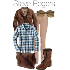 """""""Steve Rogers"""" by elliequestrienne on Polyvore"""