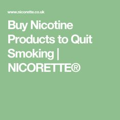 Buy Nicotine Products to Quit Smoking | NICORETTE®