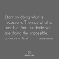 Start by doing what...