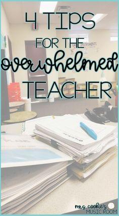4 tips for the overwhelmed music teacher #mrscookiesmusicroom #teachertips #teacherselfcare
