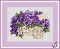 Pansies - Cross Stitch Kits by Luca-S - B259