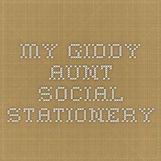 My Giddy Aunt - Social Stationery