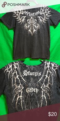 Metal Mulisha SEEP TEE Men/'s Charcoal Gray Graphic T-Shirt size choices **