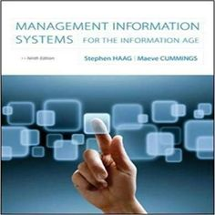 Management information systems 11th edition 9780136078463 ken test bank for management information systems for the information age 9th edition by haag fandeluxe Gallery