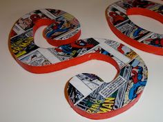 The Party Wall:  Spiderman Comic Letter Tutorial