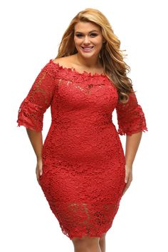 Prix: €21.96 Robe Ceremonie Grande Taille Dentelle Fleur Rouge Ouvert Pas Cher www.modebuy.com @Modebuy #Modebuy #Rouge #mode #style #femmes