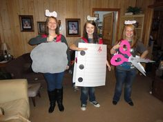 Me and two of my sisters for the Halloween pep rally... came in second at the costume contest!!