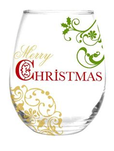 $11.99-$19.01 Entertain in style this holiday season with this beautiful hand painted Merry Christmas stemless Glass    Makes a wonderful gift.    Holds 20 oz.