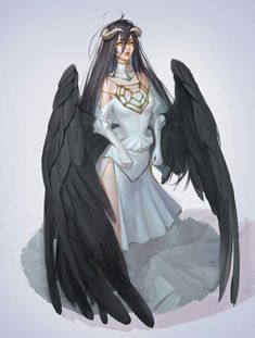 Leader of the floor guardians and servant of Ainz Aool Gown Albedo, Manga Anime, Anime Art, Video Game Anime, My Fantasy World, Creature Concept Art, Demon Girl, Angels And Demons, Animes Wallpapers