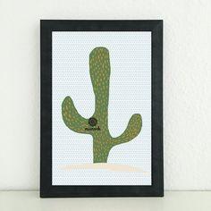 Illustrationen - Kaktus: Grafik Bild für das Kinderzimmer / Baby - ein Designerstück von miameideblog bei DaWanda