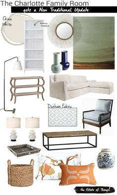Charlotte Family Room design, an updated & fresh take on traditional