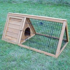 Clapier astucieux pour lapins ou petits animaux. Idéal pour deux lapins. Clapier…