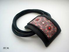 polymer clay pendant by bleklama Яндекс.Фотки