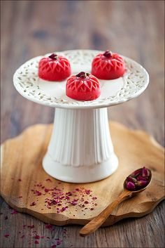 Marvelously pretty Strawberry and Rose Sorbet