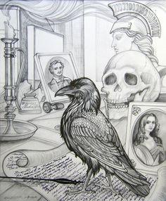 Raven Drawings | ... lenore the raven 27 gnu 3 raven portrait 11 ostrich with attitude 5