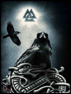 Odin's RAVENS!!!! With valknut.