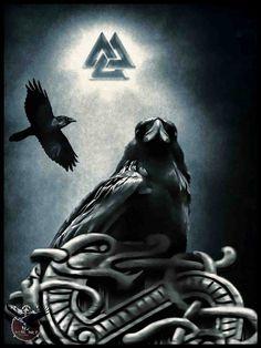 Odin's RAVENS!!!! With valknut.