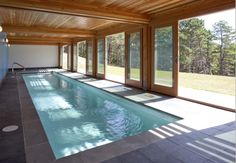 indoor lap pool that opens to the outside. perfect