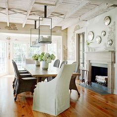 Beautiful charm and character in this dining space