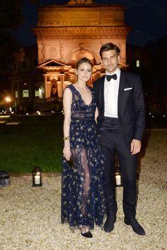 Olivia Palermo and Johannes Huebl attend the La Traviata opening gala at the Rome Opera House on May 22, 2016 #ValentinoLaTraviata