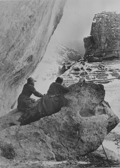 Two German soldiers in the mountains near Sevastopol, 1941.