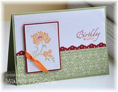 Mainly Flowers Independent Stampin' Up! Demonstrator Joanne Gelnar: Ornate Flower and Sparkly Snowflakes
