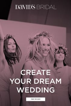 Marry your love- your way! David's Bridal has dream dresses (and so much more!) to match every style, size, and budget. It starts with your first appointment. Book now to be your own bride and let David's Bridal help bring your wedding vision to life. You deserve it.