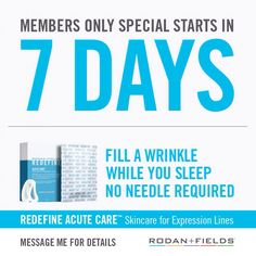 Become a Preferred Customer today and get Acute Care next week!!    Let me tell you how. #wrinklewarriors # justaweekaway