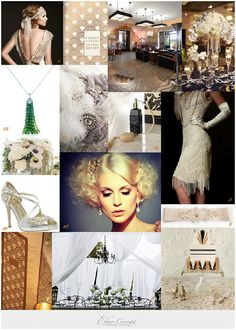 French Riviera gatsby wedding  style bride for 1920's via French Wedding Style