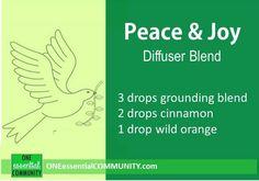 Peace & Joy diffuser blend PLUS 40 more Christmas essential oil diffuser recipes