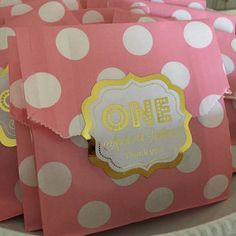 1st birthday favor bags