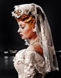 vintagegal: Lucille Ball in a promotional photo for Two Smart People vintage fashion bride bridal Hollywood Glamour, Hollywood Stars, Classic Hollywood, Old Hollywood, Hollywood Fashion, Hollywood Quotes, Hollywood Bedroom, Hollywood Gowns, Hollywood Makeup