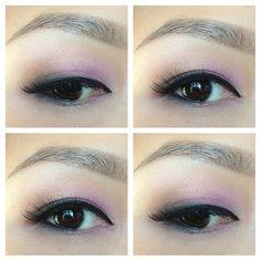Valentine's Day pink smokey eye. Asian eye makeup, hooded monolids.