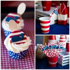 Nautical First Birthday Party for Boy | Spaceships and Laser Beams