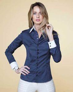 camisete social feminina azul petróleo