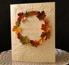 Wreath of Leaves by jasonw1 - Cards and Paper Crafts at Splitcoaststampers
