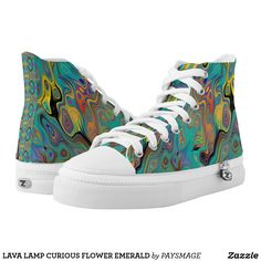 LAVA LAMP CURIOUS FLOWER EMERALD High-Top SNEAKERS