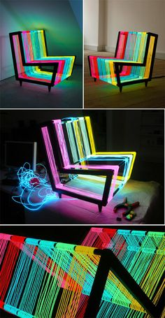 disco and chair by kiwi and pom