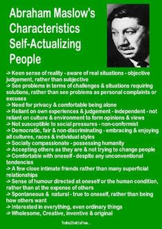 Self-actualization traits