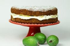 Fab feijoa cake recipe, Regional Newspapers – This is a lovely afternoon treat it uses a feijoa mixture in the cake batter as well as fresh feijoa with cream in the middle of the finished cakeampnbsp - Eat Well (formerly Bite) Fejoa Recipes, Fruit Recipes, Baking Recipes, Dessert Recipes, Recipies, Cake Recipe Using Oil, Cakes Made With Oil, Yummy Treats, Sweet Treats