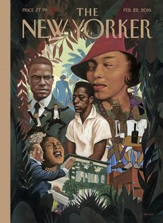 """#SchomburgCenter: Cover Story: """"Schomburg Center, Harlem, New York,"""" by Kadir Nelson - The New Yorker"""