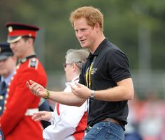 Prince William looked in relaxed mood as he spent time with athletes and spectators at the...