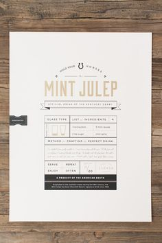 Mint Julep Metallic 18x24 Screenprint Poster
