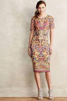 NEW Anthropologie Poly/Spandex Onida Pencil Dress by Pankaj & Nidhi Size 8