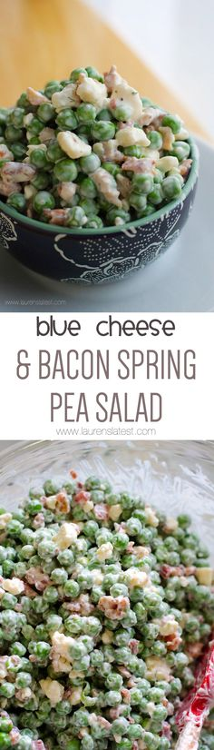 Blue Cheese and Bacon Spring Pea Salad (Blue Cheese Recipes) Spring Salad, Summer Salads, Pea Salad, Soup And Salad, Side Recipes, Dinner Recipes, Costco Recipes, Feta, Blue Cheese Recipes