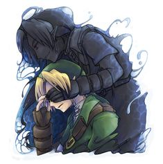 dark link x ben drowned Ben Drowned, Link Zelda, Fan Art, Twilight Princess, Animation, Breath Of The Wild, Anime, Creepypasta, Game Character