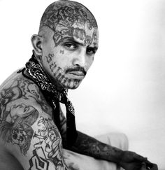 Gangster Tattoos the feel of the Gangster Culture Band Tattoos, Tattoos Motive, Tattoos Skull, Body Art Tattoos, Facial Tattoos, Gangster Tattoos, Badass Tattoos, Tattoos For Guys, Crazy Tattoos