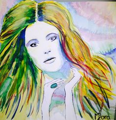 It's watercolor!!!! Do you like it ?